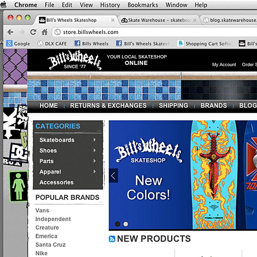 Bill's Wheels Online Store