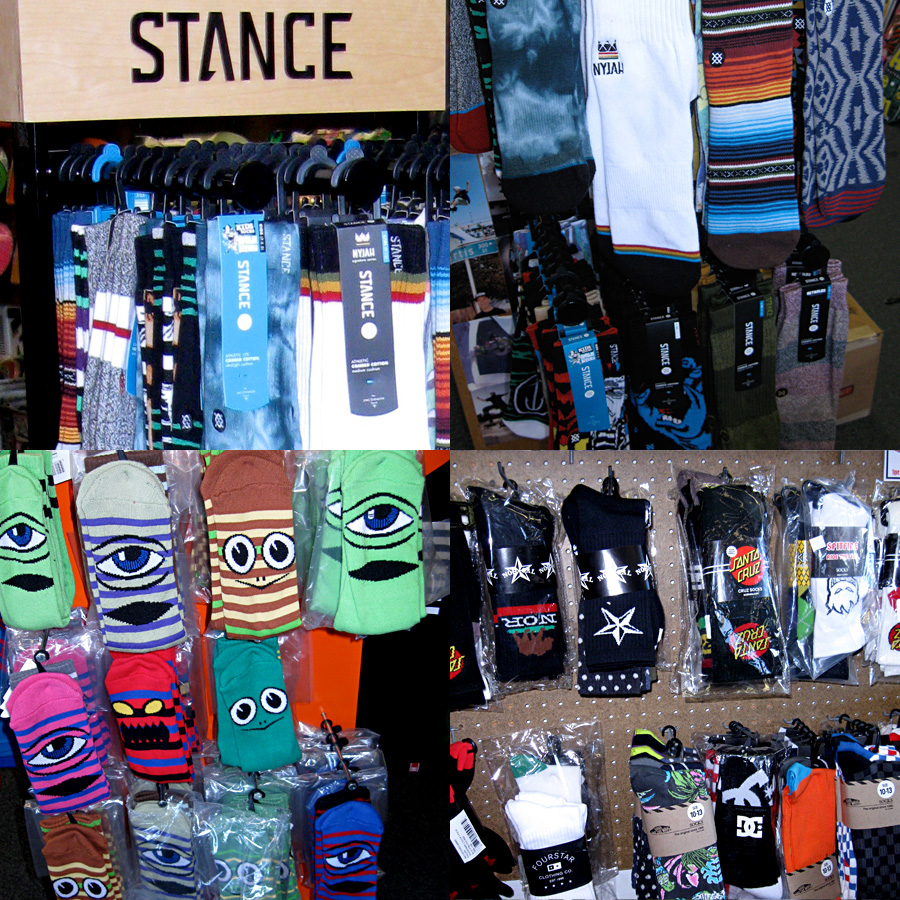 Socks from Stance, Toy Machine, DC, Santa Cruz and More