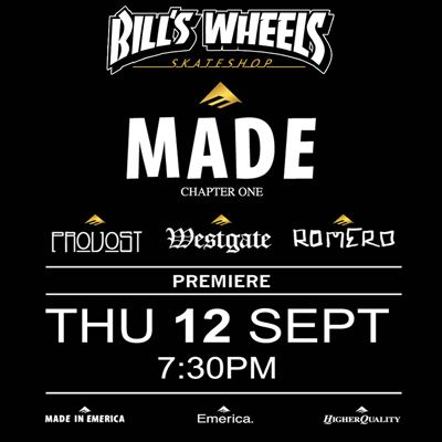 Emerica MADE chapter one premiere