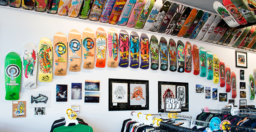 Classic Skateboards on the Walls